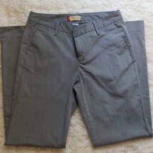 GAP gray straight fit dress pant